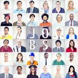 Portrait des personnes mélangées multi-ethniques de professions Photos libres de droits