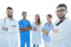 Portrait des principaux membres du centre médical Images stock