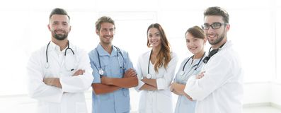 Portrait des principaux membres du centre médical Photo libre de droits