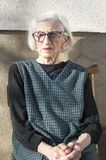 Portrait des quatre-vingt-dix grand-mamans d'années Images libres de droits