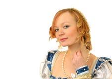 Portrait des red-haired Mädchens imagenes de archivo