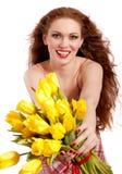 Portrait des red-haired Mädchens Lizenzfreies Stockbild