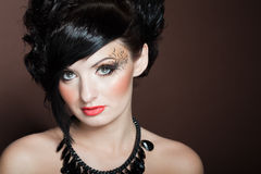 Portrait des schönen Brunette Lizenzfreies Stockfoto