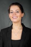 Portrait des schönen Brunettemädchens Lizenzfreie Stockfotografie
