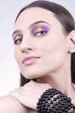 Portrait des schönen Brunettes lizenzfreies stockfoto