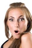 Portrait des schönen jungen überraschten Mädchens Stockbilder