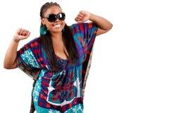 Portrait des schönen jungen Tanzens der schwarzen Frau stockfotografie