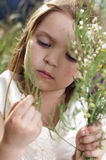 Portrait des schönen kleinen Mädchens Lizenzfreies Stockfoto