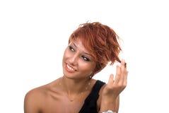 Portrait des schönen lächelnden Mädchens lizenzfreies stockfoto