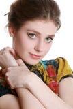 Portrait des schönen Mädchens Lizenzfreies Stockfoto