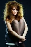 Portrait des schönen Mädchens Stockfoto