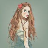 Portrait des schönen Mädchens lizenzfreie abbildung