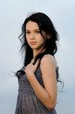 Portrait des schönen Mädchens draußen stockfotos