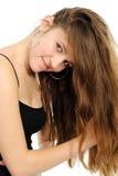 Portrait des schönen Mädchens mit dem langen Haar Lizenzfreies Stockbild