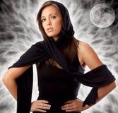 Portrait des schönen Sorceress Fantasie-Hintergrundes Lizenzfreies Stockfoto