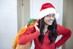 Portrait des schönen Weihnachtsmädchens Lizenzfreie Stockfotografie
