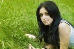Portrait des Schönheitsmädchens Stockfoto