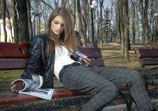 Portrait des Schönheitsmädchens Lizenzfreie Stockfotos