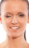 Portrait des schönen dark-haired Mädchens Lizenzfreie Stockfotografie