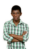 Portrait des schwarzen Jungen Stockfotografie