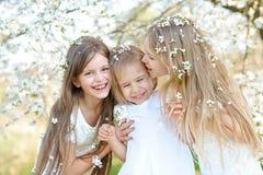 Portrait des soeurs de petites filles Images libres de droits