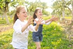 Portrait des soeurs de petites filles Photographie stock