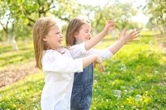 Portrait des soeurs de petites filles Photos stock