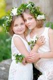 Portrait des soeurs de petites filles Photographie stock libre de droits
