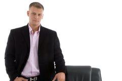 Portrait des stattlichen Geschäftsmannes Stockbild