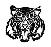 Portrait des Tigers lizenzfreie abbildung