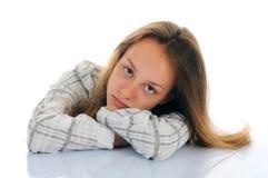 Portrait des traurigen Mädchens Stockfotos