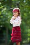 Portrait des ukrainischen kleinen Mädchens Stockfoto