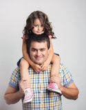 Portrait des Vaters und der Tochter Lizenzfreies Stockfoto