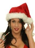 Portrait des Weihnachtsmädchens stockbild