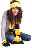 Portrait des Wintermädchens Lizenzfreies Stockfoto