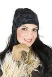 Portrait des Wintermädchens Stockfoto