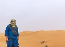 Portrait in the desert Stock Photo