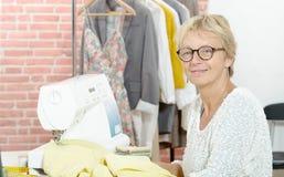 Portrait of  designer in a sewing workshop Stock Images