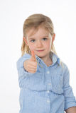 Portrait of determinated child Stock Image