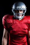 Portrait of determined American football player Stock Images