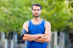 Portrait of a determined handsome athlete Royalty Free Stock Photo