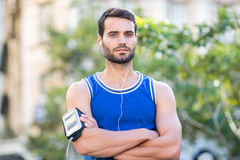 Portrait of a determined handsome athlete Royalty Free Stock Image