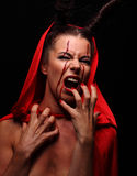 Portrait of a devil with horns. Fantasy. Art project. halloween Royalty Free Stock Photos