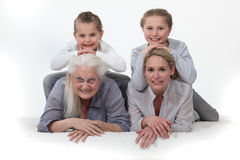 Portrait of different generations Stock Photography