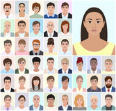 Portrait of different people business, job, vector illustration Stock Photography