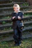 Portrait of diligent boy Stock Photos