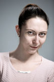 Portrait of disgusted woman Royalty Free Stock Image