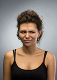 Portrait of  displeased woman Royalty Free Stock Photos