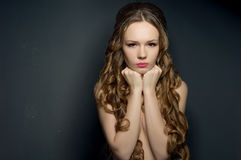 Portrait of a dissatisfied beautiful young woman Royalty Free Stock Photo
