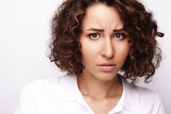 Portrait of dissatisfied young woman Royalty Free Stock Photo